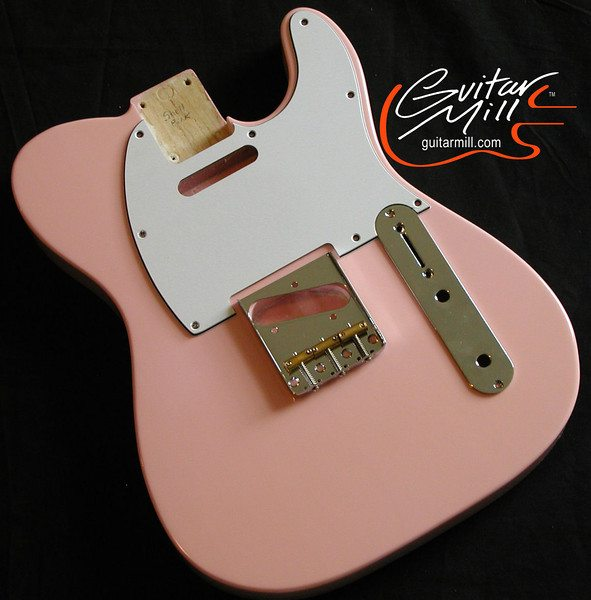 """T"" Style in 100% Nitrocellulose Shell Pink Finish"